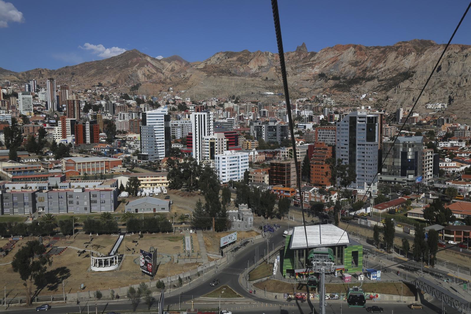 In La Paz unterwegs - mit der Seilbahn