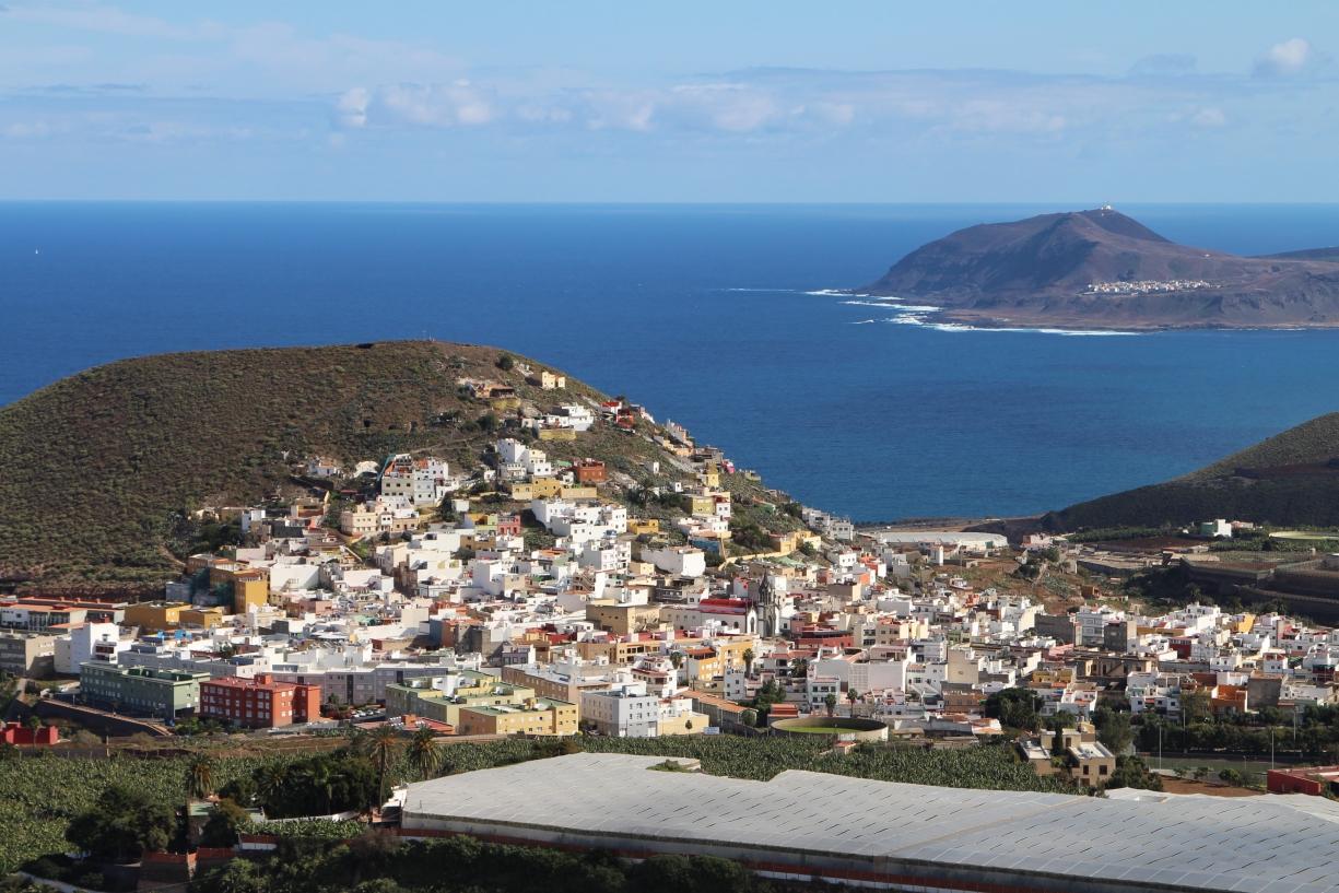 Blick vom Mirador bei Aruca an die Nordküste