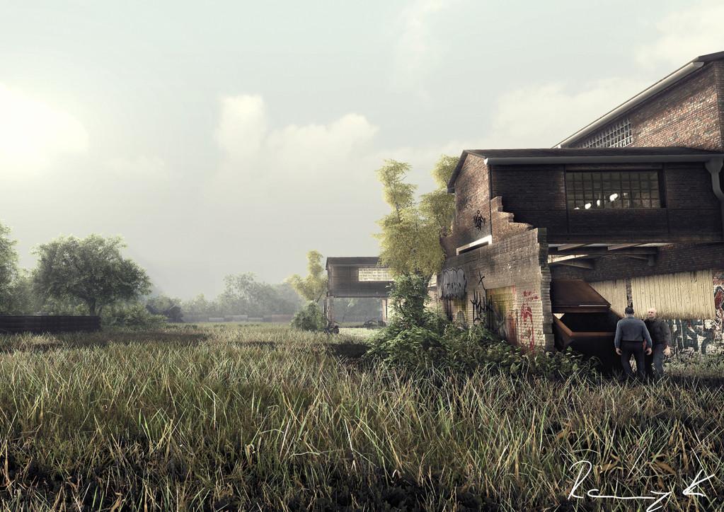 Gebäude-Visualisierung (gerendert mit einer Spiele-Engine)