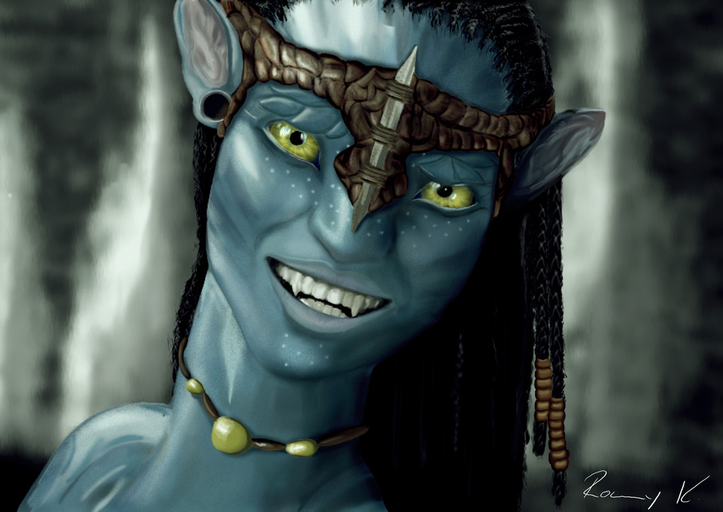 Digital Painting von Neytiri (Avatar)