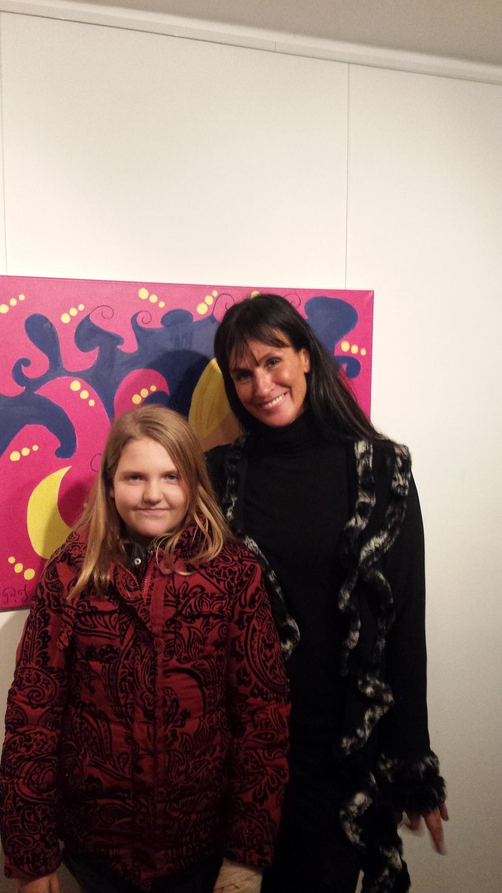 Galeristin und Künstlerin Frau Catherine Sica - Kunsthaus Rust - 29.11.2014