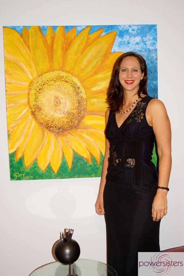 """Künstlerin Lisa Grüner - Vernissage """"Augenwälder & Co"""" 4.12.2015"""