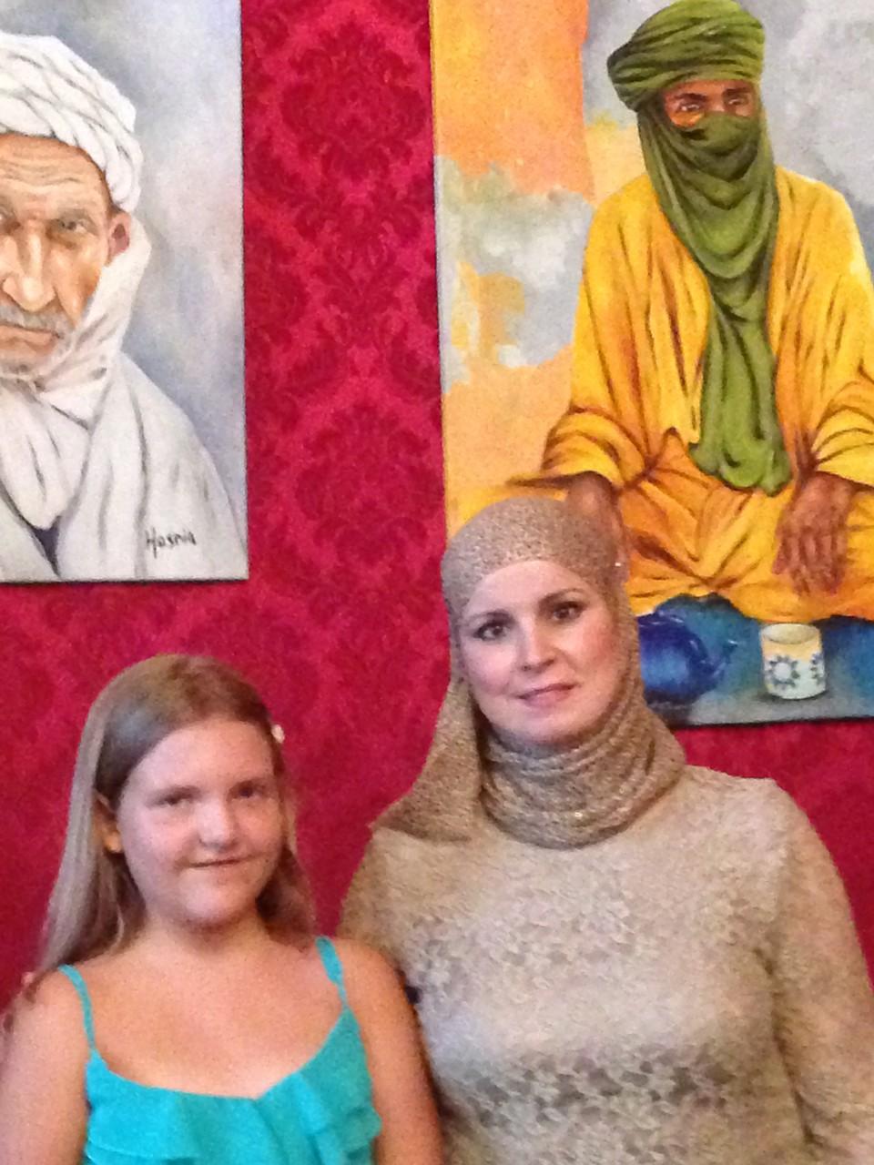 die algerische Künstlerin Hasnia - 7.Annuale-MOYA - 23.6.2014