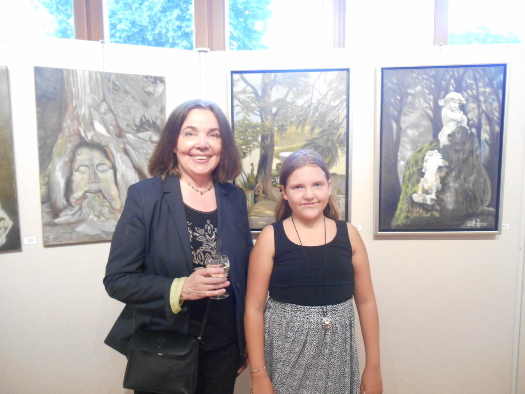 Frau Cornelia Hagen-Fuchs - ihre Vernissage mit wunderschönen Bildern - 26.6.2014