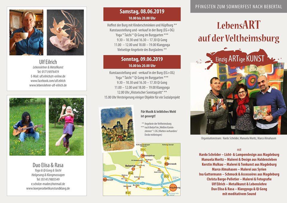 Einladung zum großen Pfingst-Event am 8.6.-9.6.2019 auf der Veltheimsburg Bebertal