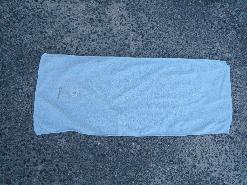 水色のタオル