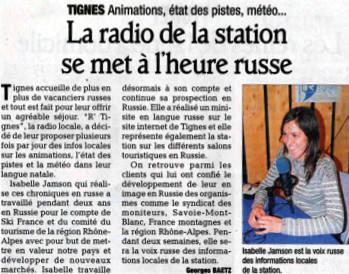 Dauphiné Libéré du 8 janvier 2011