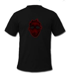 Maske in rot