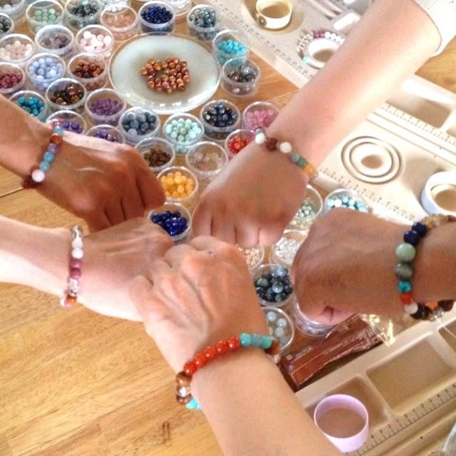天然石ブレスレット作り体験ワークショップIN金沢2014/9/14