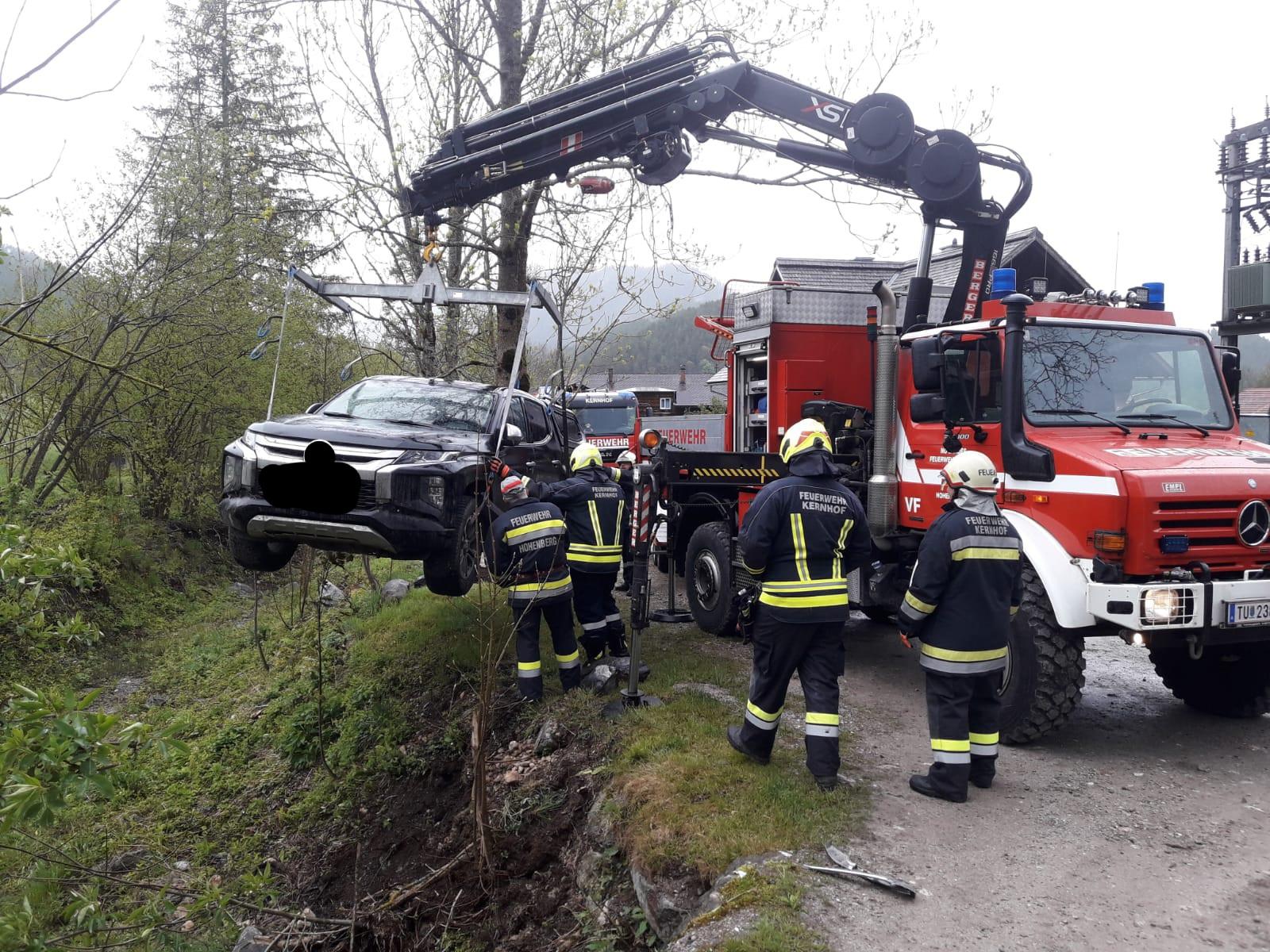Fahrzeugbergung im Thalerl