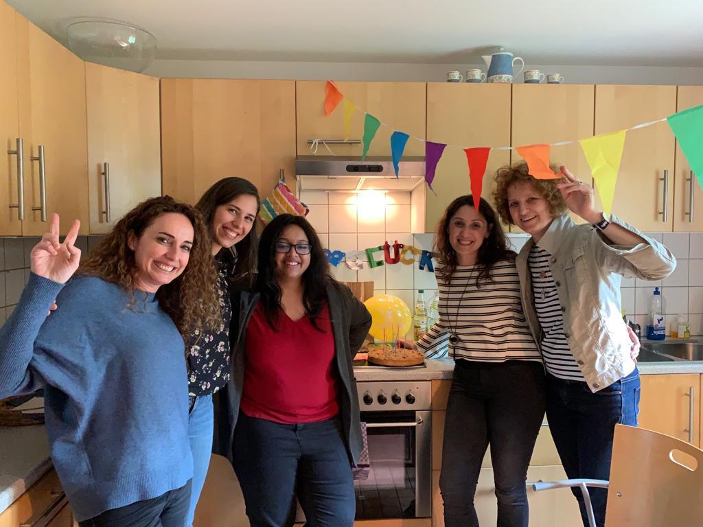 Celebrating Cristina's birthday,