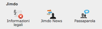 Jimdo toolbar