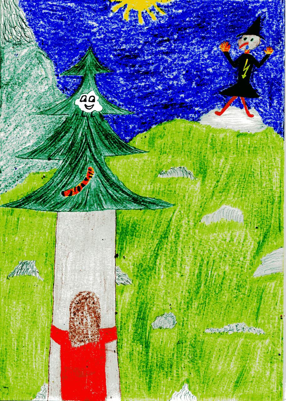 Dorothea und ihre Freunde erschrecken die Geröllhexe