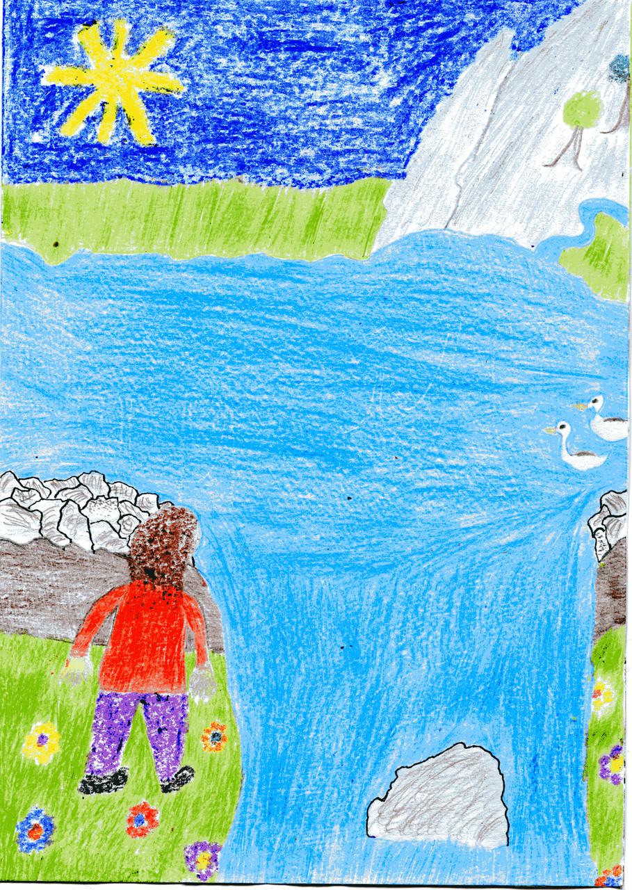 Das Riesenmädchen am großen See