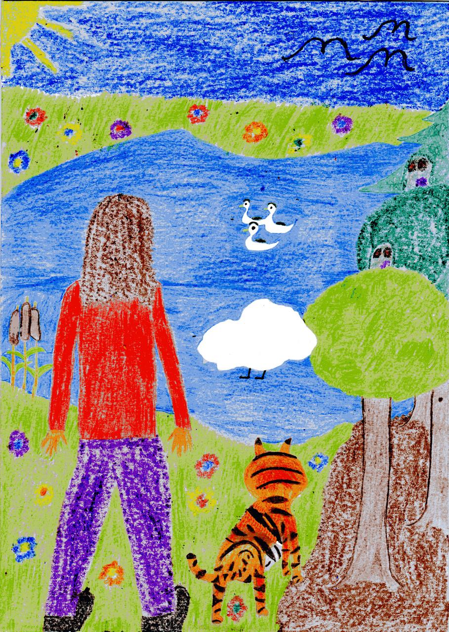 Dorothea, Sausewind und der Tiger am Teich der Waldgespenster