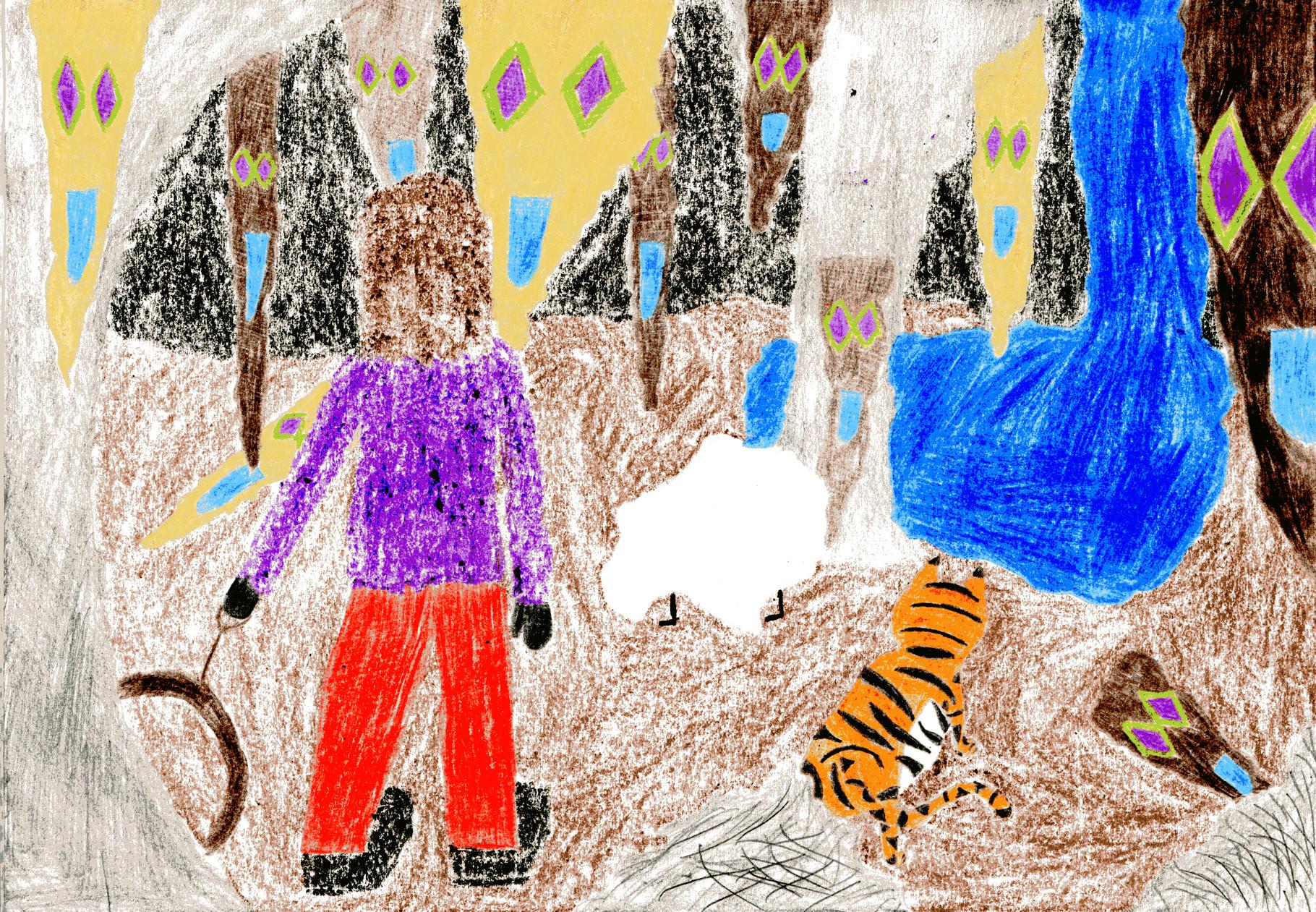 Dorothea und ihre Freunde bringen den Grottenmurmler in eine neue Höhle