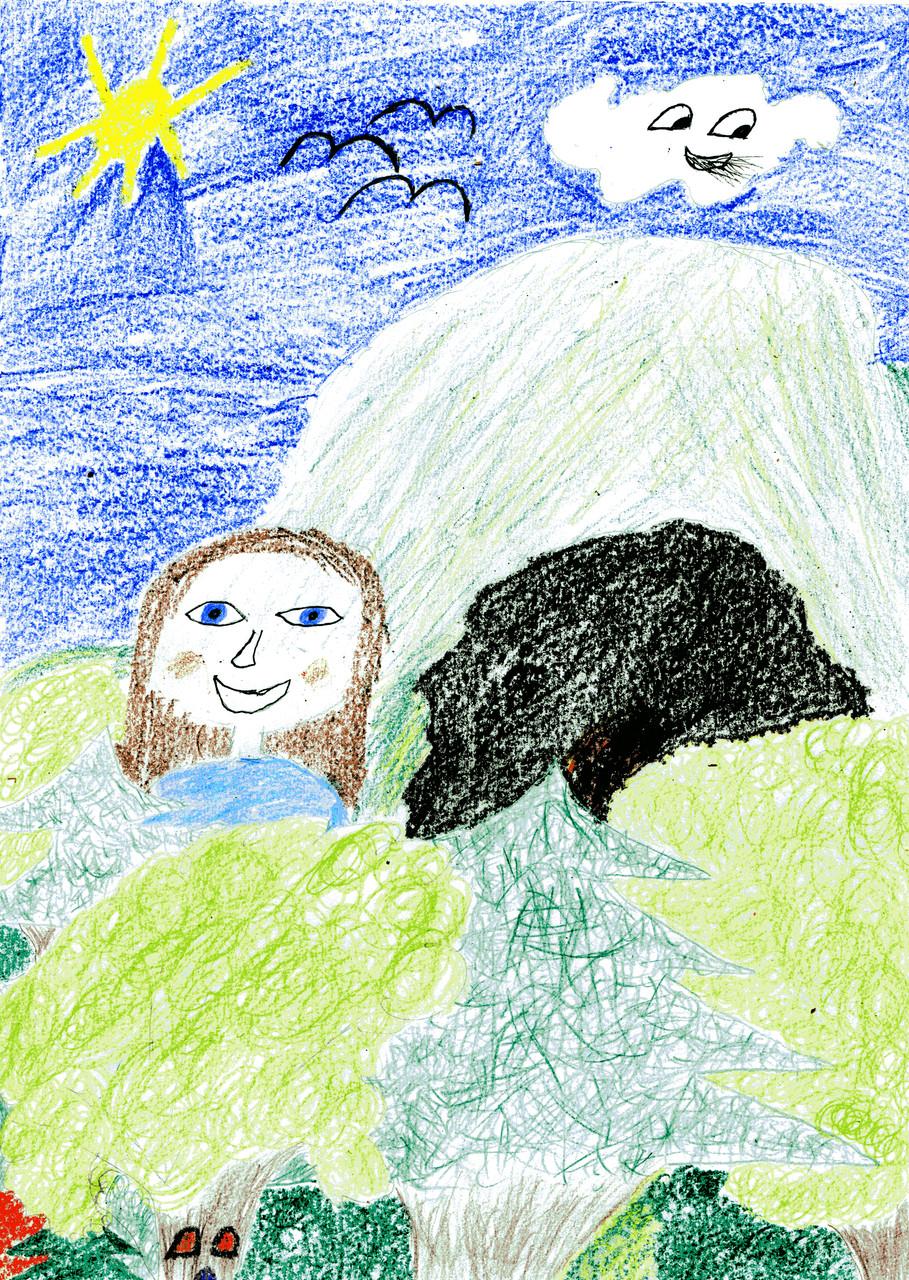 Titelbild: Vor der Höhle im Wald