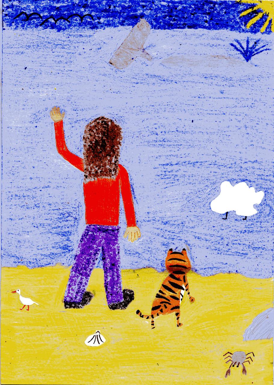 Dorothea, Sausewind und der Tiger verabschieden sich vom Wal