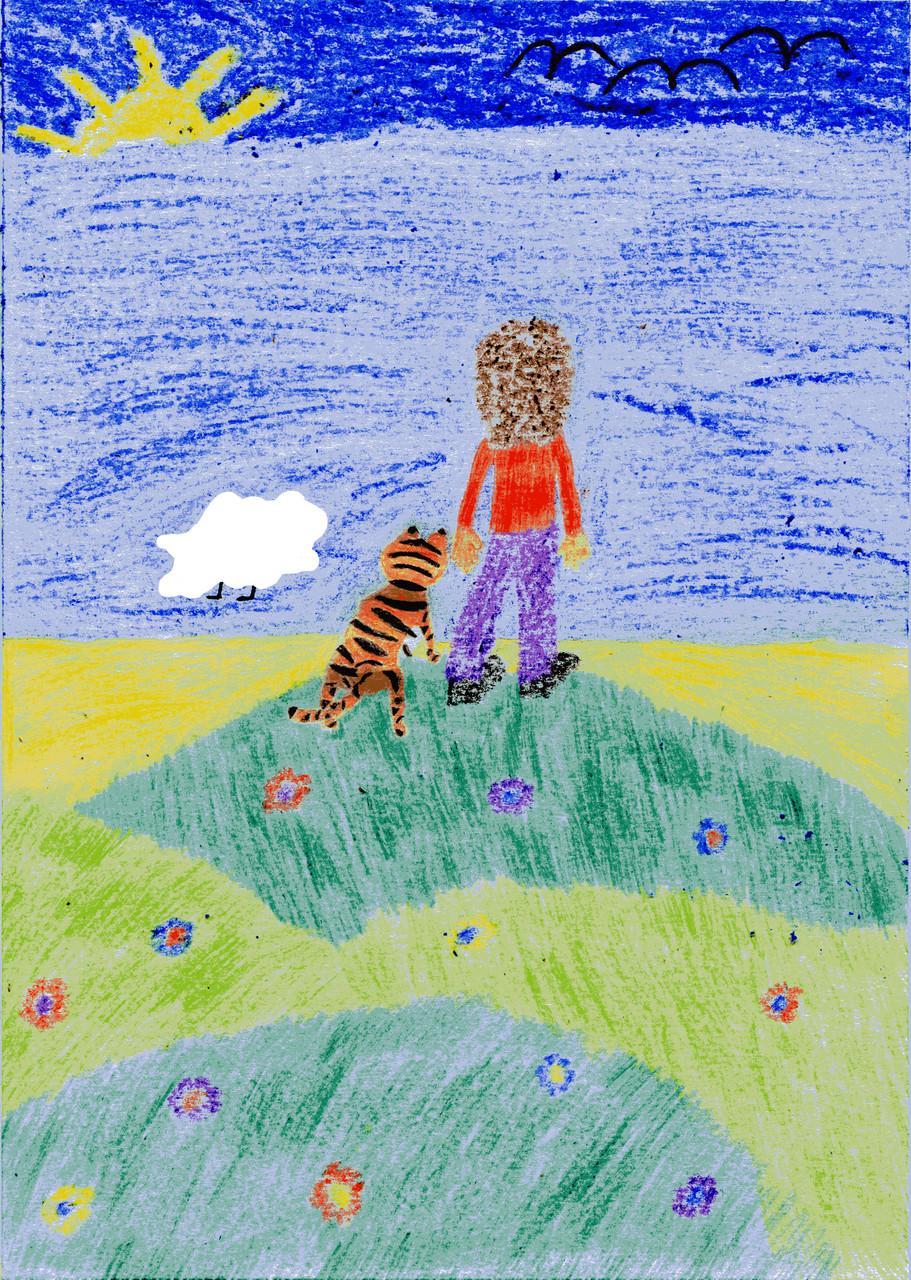 Dorothea und der Tiger sehen das Meer