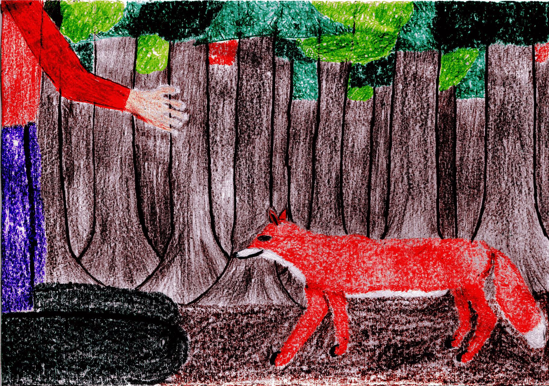 Dorothea trifft den Fuchs