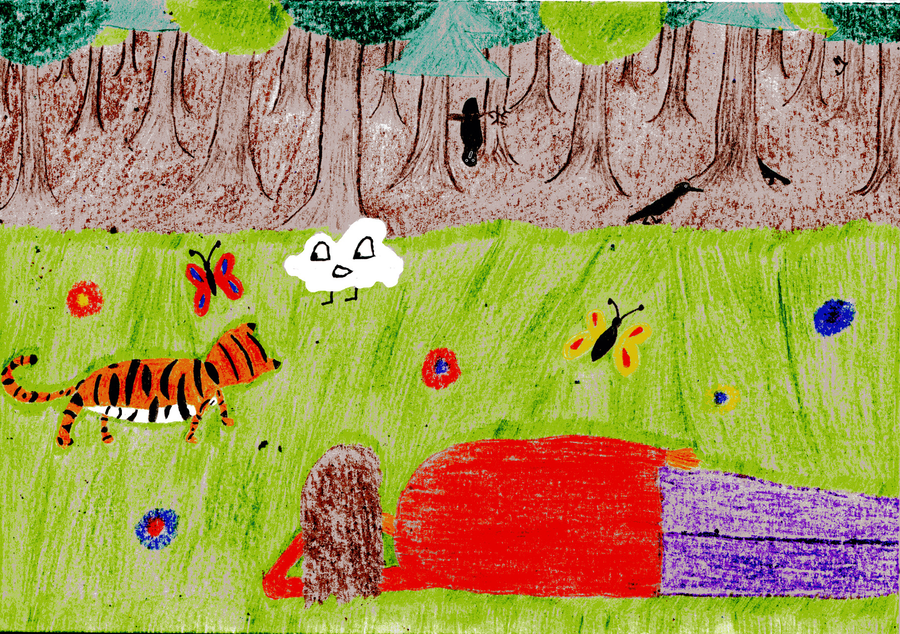 Sausewind und der Tiger jagen Schmetterlinge