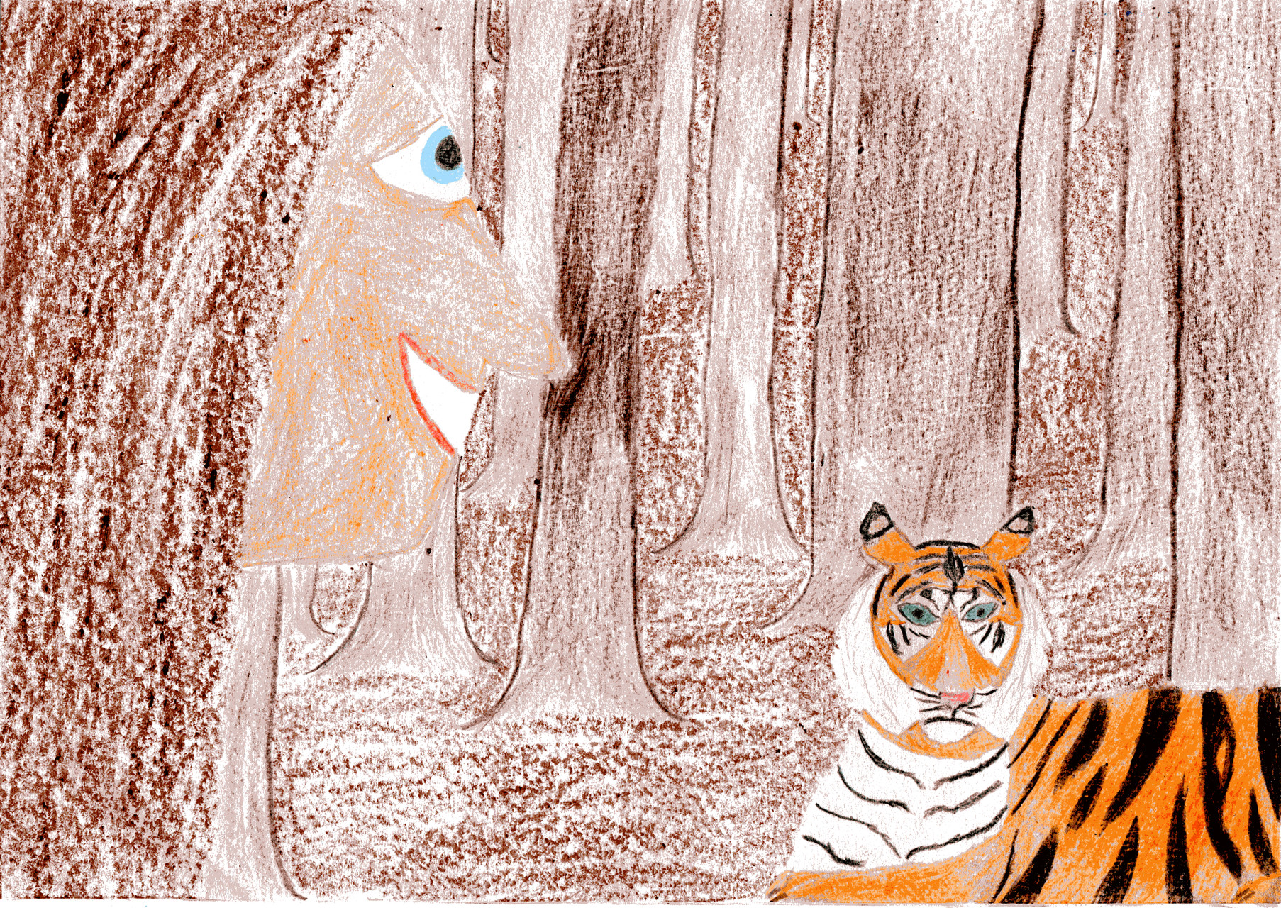 Dorothea spricht mit dem Tiger