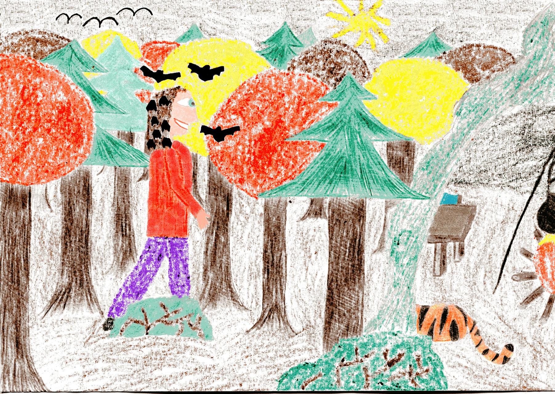Dorothea bringt die Fledermäuse in ihre Höhle
