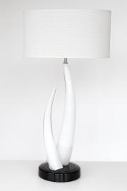Lampe Elfenbeindesign mit Schirm  H 71 cm/ D= 20 cm / 7,3 kg/ EUR  990.-