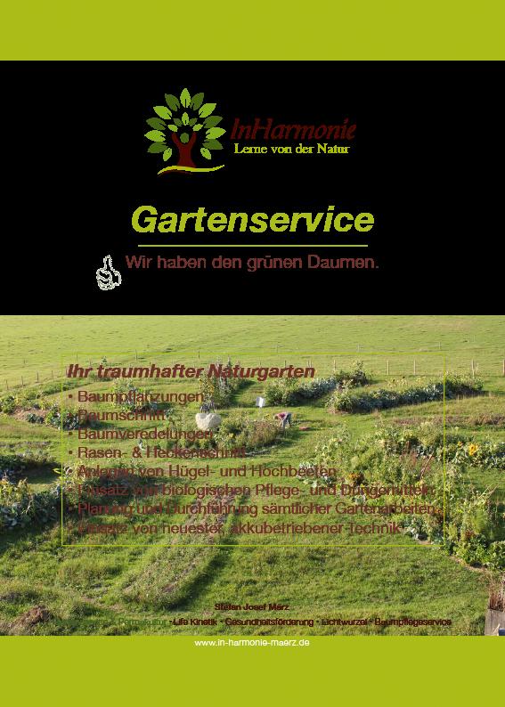 Gartenservice - all-in-harmonies Webseite!