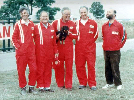 Die Truppe der Pioniere v.l.n.r.: Herbert Pirker, Karl Purschke, Fritz Romig, Horst Oberhofer, Friedel Storka