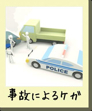 交通事故によるけが