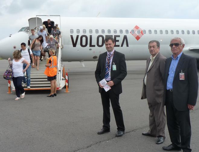 C'était le 2 Juin dernier à Bastia-Poretta lors du premier vol de Volotea vers la Corse