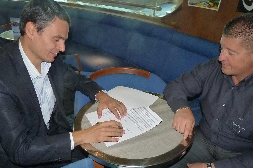 Pierre-André Giovannini et Alain Del Moro : l'accord est scellé