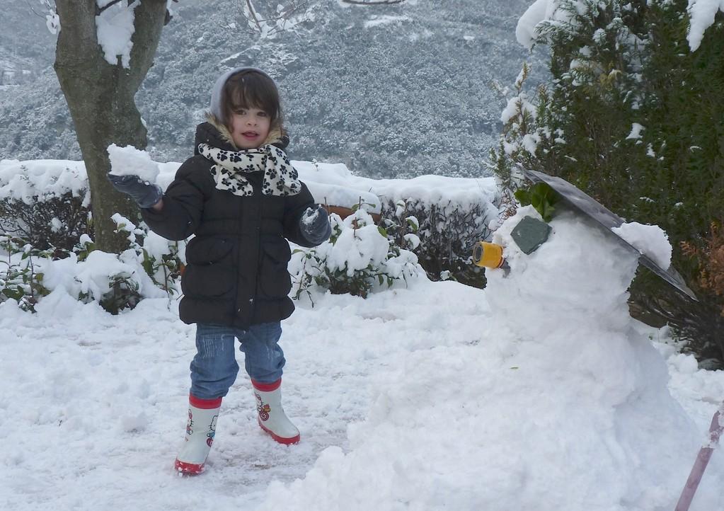 Bonjour le bonhomme de neige