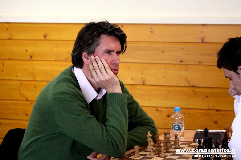 L'Allemand Sebastian Siebrecht face à Massoni