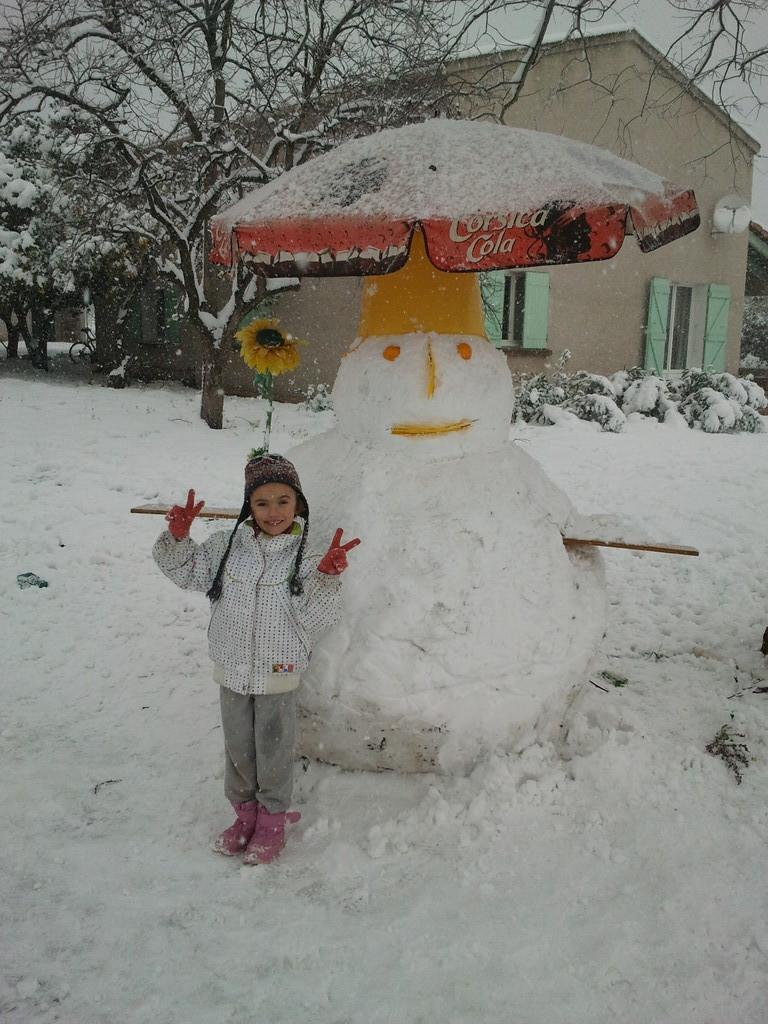 Bonhomme de neige à Borgo