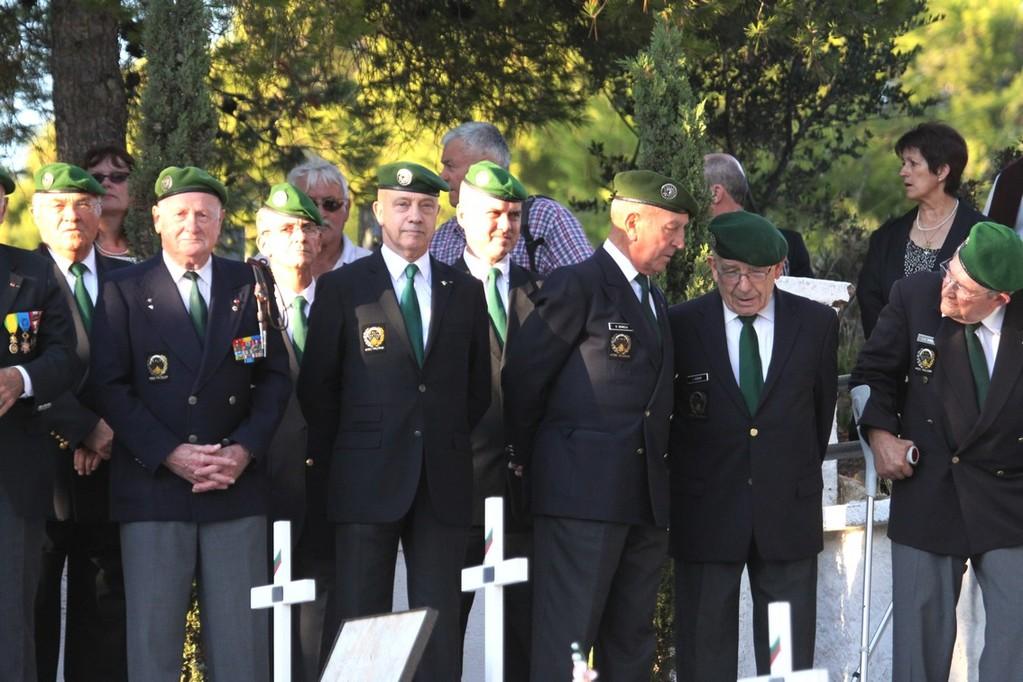 Les anciens officiers du régiment