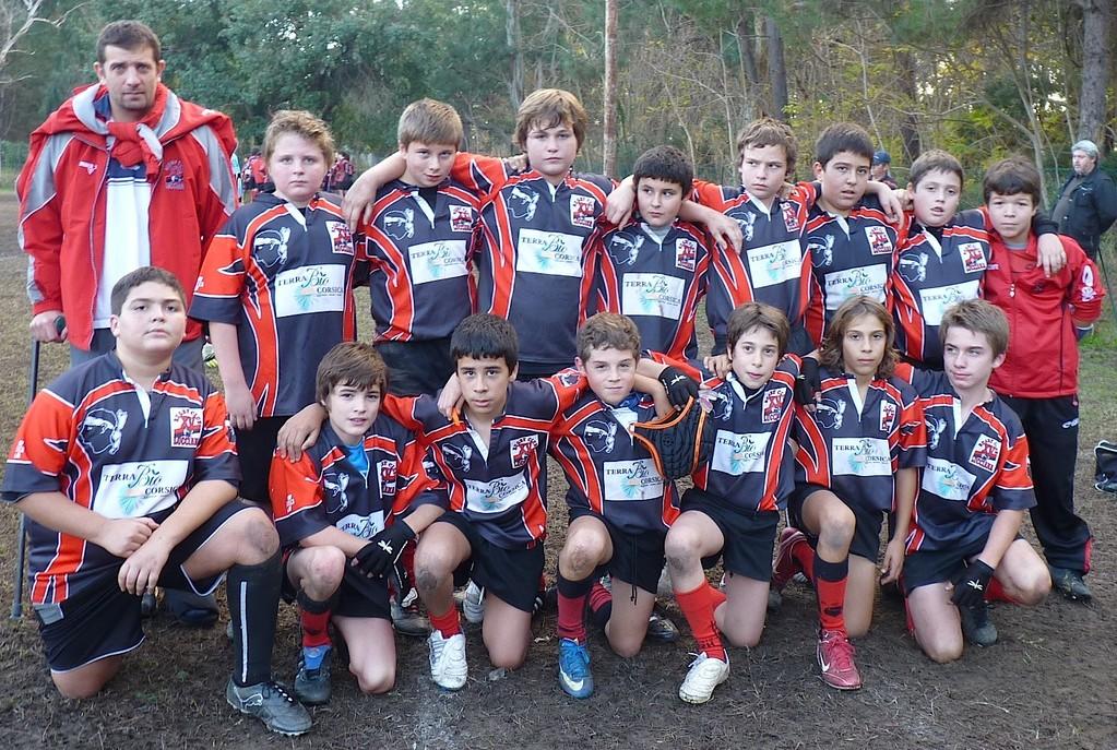 Les U 13 du RC Lucciana