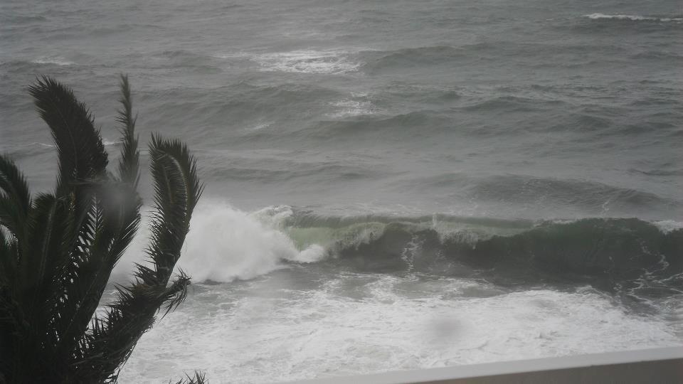 Les flots déchâinés à Pietranera