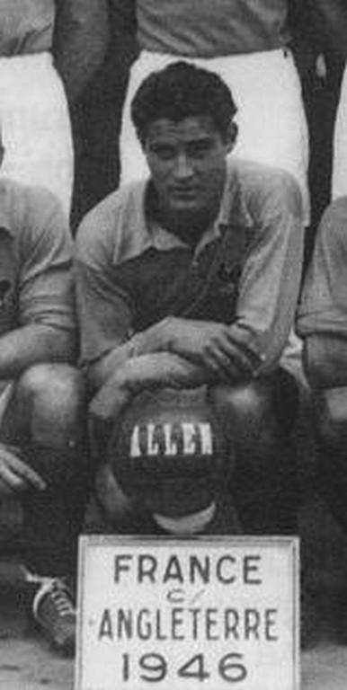 Pierre Sinibaldi sous le maillot de l'équipe de France