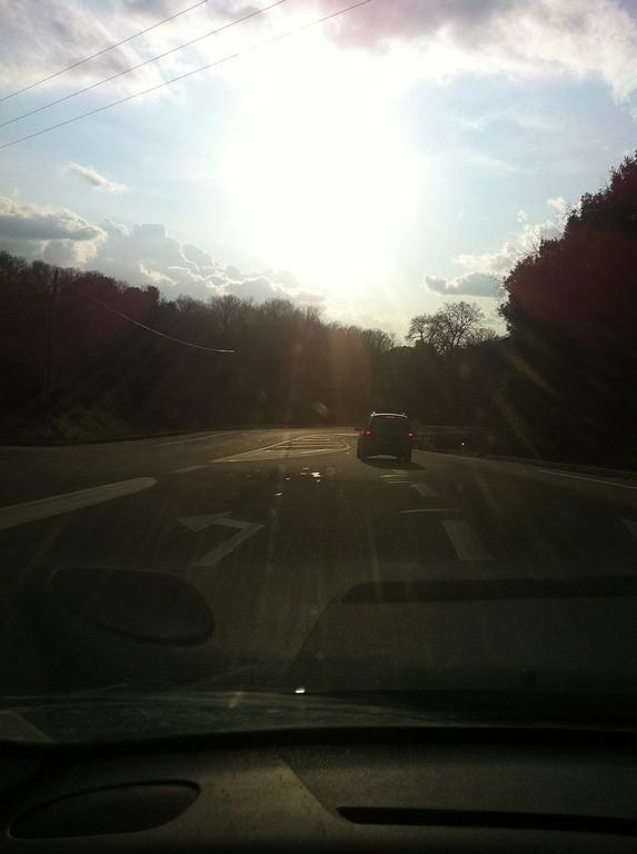 Lever de soleil avec quelques flocons à Ajaccio