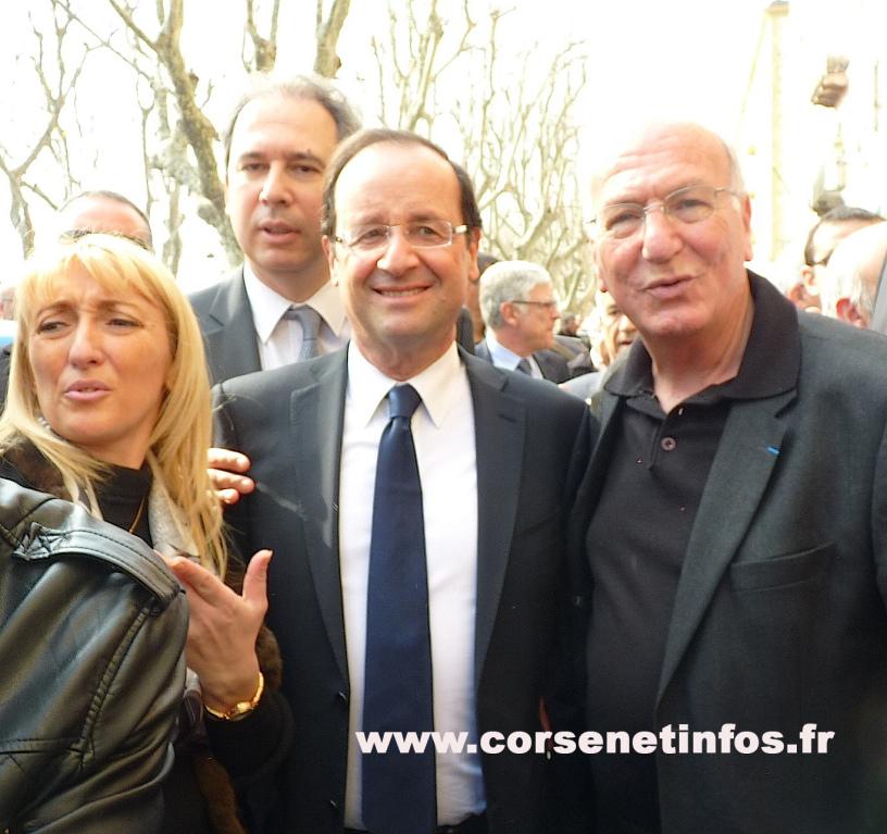 Entre Emmanuelle De Gentile, Jean Zuccarelli et Batti Raffalli, co-président de son comité de soutien en Haute-Corse