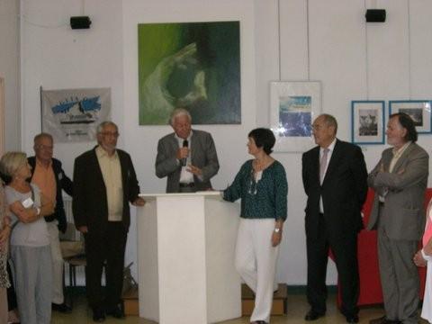 Allocution de René OLMETA - à gauche du pupitre Jean GRAZI, à droite Christiane PADOVANI , Jacques ROCCA SERRA et et Patrick PADOVANI