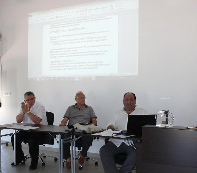 Jean-Sylvestre Albertini, Henry Savary et Fabrice Orsini (de gauche à droite) : reconduits dans leurs fonctions