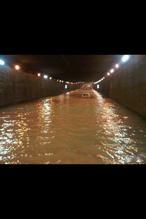 Le tunnel de Bastia sous les eaux