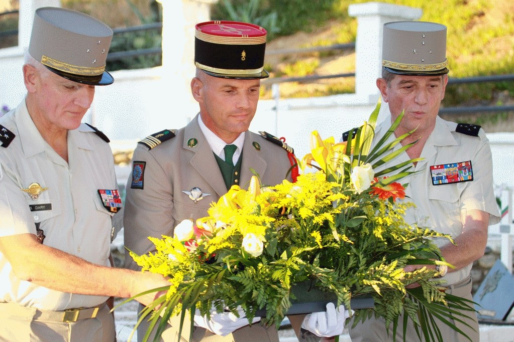 Le général Dary, le colonel Plessy et le général Puga.