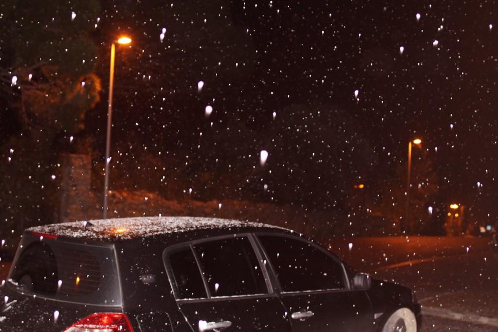 Giboulées de neige à 20 heures à Calvi