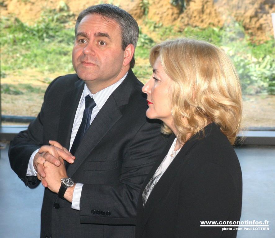X. Bertrand et Stéphanie Grimaldi