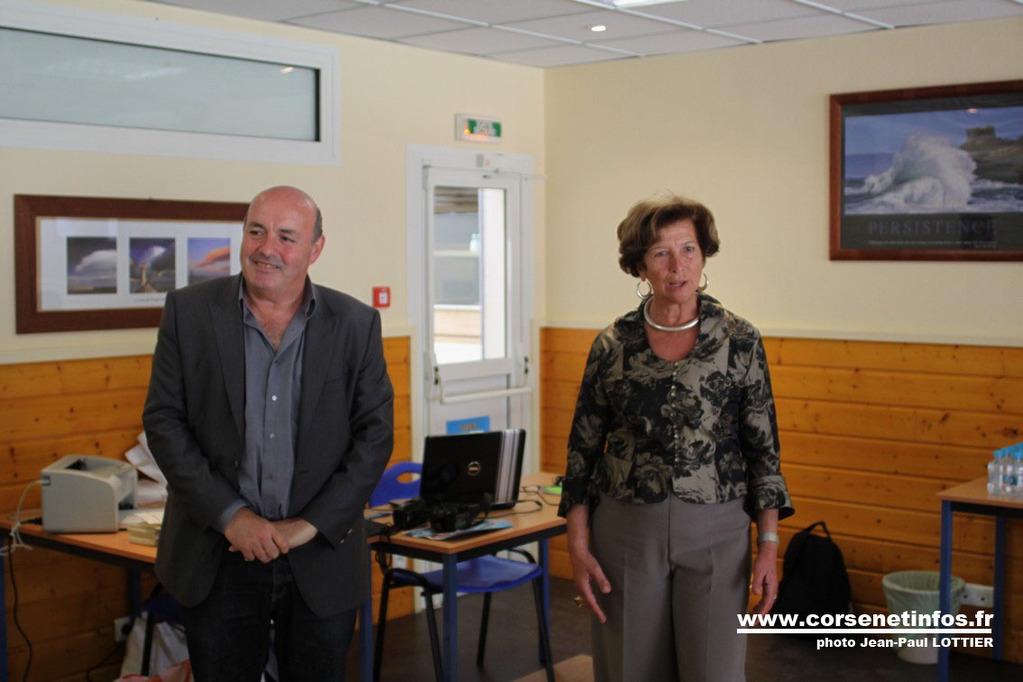 Leo Battesti président de la ligue corse d'échecs et Françoise Sévéon, adjointe au maire de Calvi