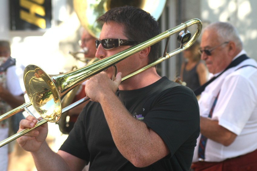 Dominique Schlissinger au trombone